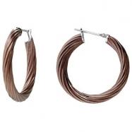 Stainless Steel 6.5 X 66MM-RIP NONE TWISTED HOOP EARRINGS