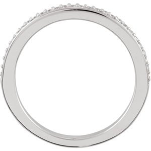 Platinum Band Complete with Stone SI2-SI3 Round 01.00 MM Diamond Polished 1/8CTW BAND. Price: $950.69