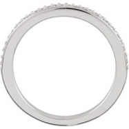 Platinum Band Complete with Stone SI2-SI3 Round 01.00 MM Diamond Polished 1/8CTW BAND