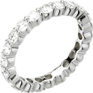 14kt White 2  CT TW SIZE 07.00 Polished DIAMOND ETERNITY BAND