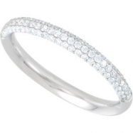 14KY 3/8 CT TW/SIZE 07.00 P DIAMOND ANNIVERSARY BAND
