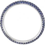 14KW SIZE 06.50 P BLUE SAPPHIRE ETERNITY BAND