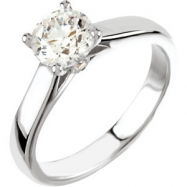 Platinum Engagement Semi-Mount with Head SI2-SI3 Round 06.50 MM Polished .04 CTW SEMI-MOUNT ENG RING