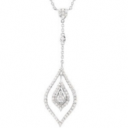 "14kt White 7/8 CT TW 18"" Polished DIAMOND NECKLACE"