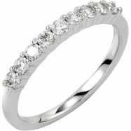 14KW 02.20MM; 1/3 CT TW P NINE STONE ANNIVERSARY BAND