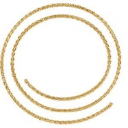 14kt Yellow BULK BY INCH Polished WHEAT CHAIN