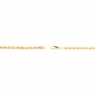 14kt White 24 INCH Polished 04.00 MM ROPE CHAIN (REP CH509