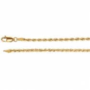 14kt White 16 INCH Polished 02.50MM ROPE CHAIN (REP CH507
