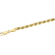 14kt White 16 INCH Polished DIA CUT ROPE CHAIN (REP CH515)