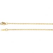 14kt White BULK BY INCH Polished LASERED TITAN GOLD ROPE CHAIN