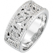 14KW 5/8 CT TW P ANNIVERSARY BAND