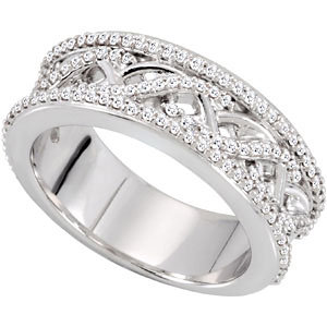 14KW 1/2 CT TW P ANNIVERSARY BAND. Price: $1243.52