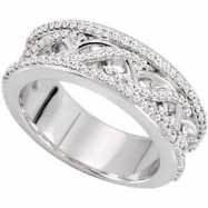 14KW 1/2 CT TW P ANNIVERSARY BAND