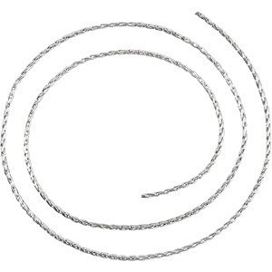 Sterling Silver BULK BY INCH Polished WHEAT CHAIN. Price: $0.97