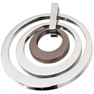 Stainless Steel 33.98 X 33.91MM NONE TRIPLE CIRCLE PENDANT