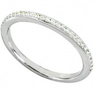 14kt White Band Complete with Stone SI2-3 Round 01.00 MM Diamond Polished BAND
