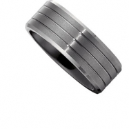 Ceramic & Tungsten 13.00 08.00 MM TUNGSTEN OVERLAY CERAMIC COUTURE NONE