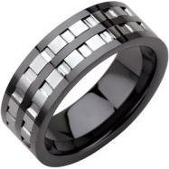 Ceramic & Tungsten 07.50 08.00 MM BLACK CERAMIC COUTURE NONE