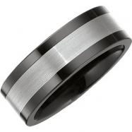 Ceramic & Tungsten 07.50 08.00 MM BLACK CERAMIC COUTURE NONE