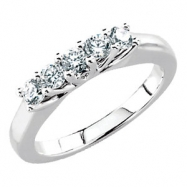14kt Yellow 1/4 CT TW Polished 5 STONE ANNIVERSARY BAND