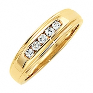 14kt White 1/3CTTW, SI2-3, GH Polished GENTS DIAMOND RING