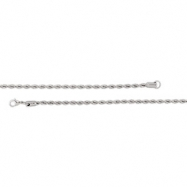 Stainless Steel 24.00 INCH NONE 4MM ROPE CHAIN W/ LOBSTER