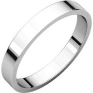 18kt White 03.00 mm Flat Band