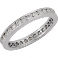 14KW SIZE 05.00 9/10 CT TW P DIAMOND ETERNITY BAND