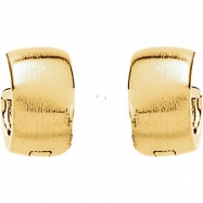 14kt White 11.50 mm PAIR Polished HINGED EARRING