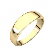 14kt Yellow 06.00 mm Half Round Tapered Band