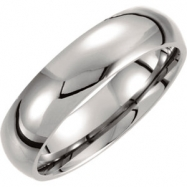 Titanium 11.50 06.0 mm POLISHED DOMED BAND