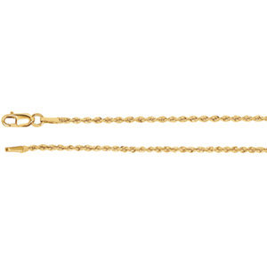 14kt Yellow 24 INCH Polished 01.50 MM ROPE CHAIN. Price: $507.58