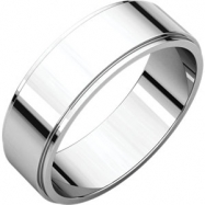 Palladium 06.00 mm Flat Edge Band