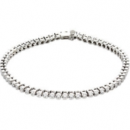 "14kt White 3CTTW I1,GH   7 1/4"" Polished DIAMOND TENNIS BRACELET 7 1/4"""