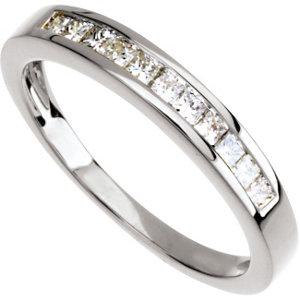 14KW SIZE 07.50/ 1/3 CT TW P DIAMOND ANNIVERSARY BAND. Price: $1173.08