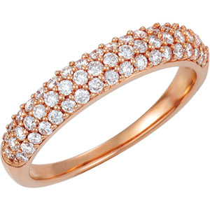 14kt Rose Band 06.00 Complete with Stone ROUND VARIOUS Polished 1/2 CTW DIA ANNIVERSARY BAND. Price: $1197.87