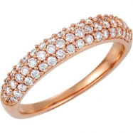 14kt Rose Band 06.00 Complete with Stone ROUND VARIOUS Polished 1/2 CTW DIA ANNIVERSARY BAND
