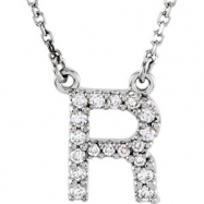 14kt White R Diamond 0.166666666666667 1//6CTW Diamond Necklace