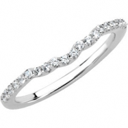 14kt White Band Complete with Stone 07.00 3/4 CTW Polished 1/4 CT W Band
