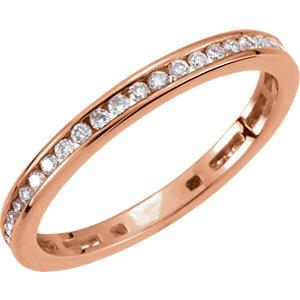 14kt Rose 3/8 CT TW Polished DIAMOND RING. Price: $935.16