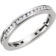 14kt White 3/8 CT TW Polished DIAMOND RING