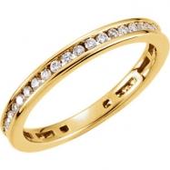 14kt Yellow 3/8 CT TW Polished DIAMOND RING