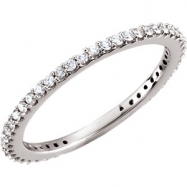 14kt White Band 07.00 Complete with Stone ROUND VARIOUS Polished 1/3 CTW DIAMOND BAND