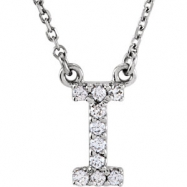 14kt White I Diamond 0.1 1/10CTW Diamond Necklace