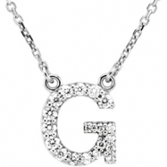 14kt White G Diamond 0.166666666666667 1/6CTW Diamond Necklace