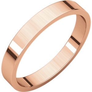 14kt Rose 03.00 mm Flat Band. Price: $256.04