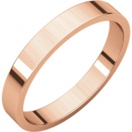 14kt Rose 03.00 mm Flat Band