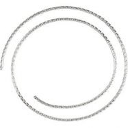 Sterling Silver BULK BY INCH Polished SOLID WHEAT CHAIN
