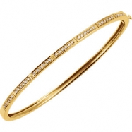 14kt Yellow 1/3 CTW Diamond Bangle Bracelet