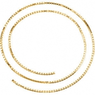 14kt Yellow BULK BY INCH Polished SOLID BOX CHAIN